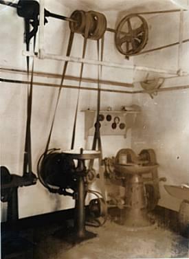 Transmissionsantrieb der Fleischerei Mitte der 30-er Jahre